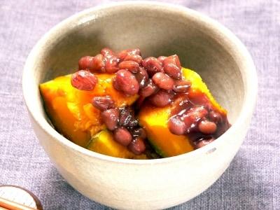 レンジで簡単!冬至に食べる、小豆かぼちゃ(いとこ煮)