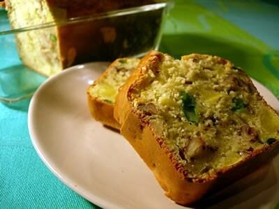 インゲン&サツマイモのケーキ