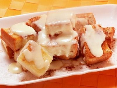 食パンで再現!シナモンメルツ風あったかお菓子