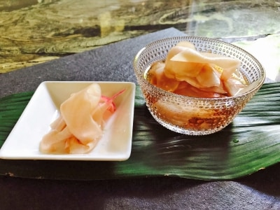 新生姜の甘酢漬け(ガリ)のレシピ・作り方