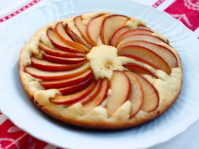 りんごとホットケーキミックスで作るアップルパンケーキのレシピ