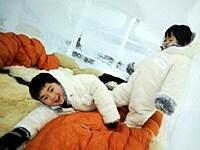 氷のホテル専用のルームウェアは子供用もあり【アルファリゾートトマム】