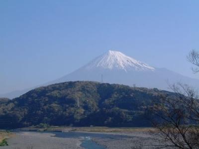 富士川楽座から富士山を望む