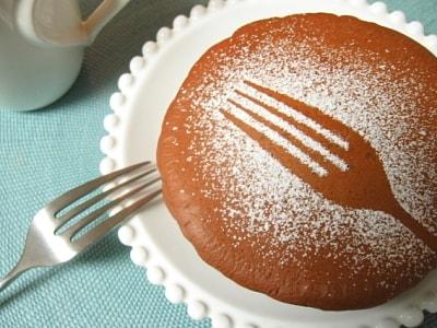 シンプルおやつ 小豆とチョコのパンケーキ