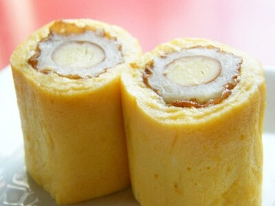 チーズちくわの卵焼き