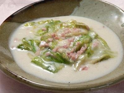 中華風味のレタスのクリーム煮