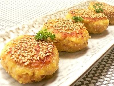 ホクホク香ばしい、さつま芋の焼きコロッケ
