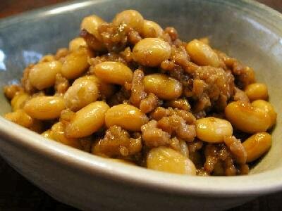 15分で簡単常備菜:大豆入り肉そぼろ