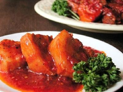 ホールトマトで作る、豚の角煮