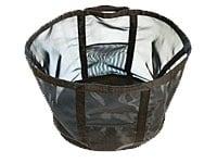 持ち運びできるメッシュランドリーバッグ(上面47×35底41×32、高35cm)1500円(税込)