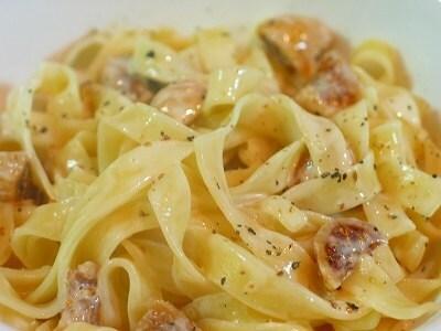 干しイチジクとマスカルポーネチーズのフェットチーネ