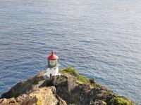 オアフ島で最も有名なクジラ・ビューポイント、マカプウ灯台の展望台