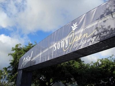 オアフ島カハラで開催される「ソニー・オープン・イン・ハワイ」。ワイキキからトロリーが運行、入場券はゲートで購入可能