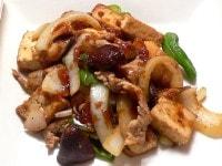 豚肉と野菜と厚揚げの焼き肉のたれ炒め