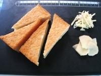 厚揚げ、生姜を切る