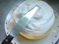 ケーキが完全に冷めたらホイップクリームをぬる