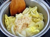 白菜を煮る