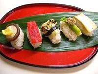 5品の野菜寿司