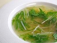 茹で汁はスープに