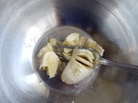 バナナをつぶす