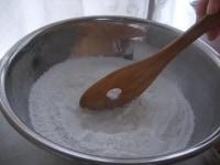 熱湯を入れる