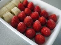 果物を凍らせる