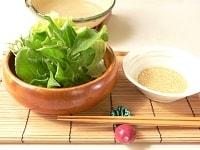 レタス、水菜と一緒に盛り合わせる