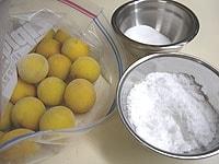 塩とグラニュー糖は合わせる
