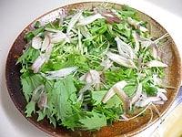お皿に野菜を広げるように盛る