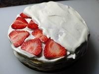 ケーキを組み立てる
