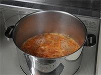 にんじんを煮る