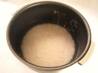 米をとぎ浸水させる