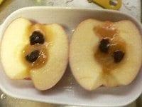 りんごとプルーンの下準備