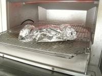 オーブントースターで加熱する