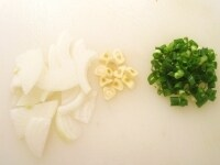 香味野菜の準備