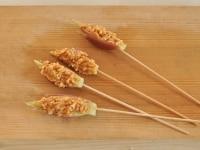 切り口に味噌を塗る