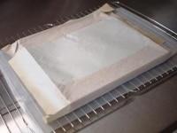 紙はつけたままで粗熱をとる