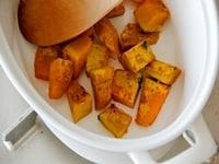かぼちゃを炒める
