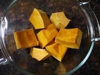 かぼちゃを加熱する