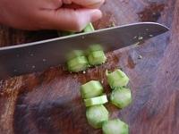 佃煮を作る: 小口切りにする