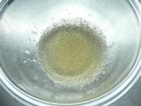 ゼラチンをふやかしてレンジで溶かす