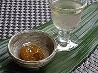 蜂蜜をまぶしてお茶請けに。ソーダーで割っても