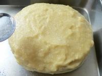 グラニュー糖を半分かける