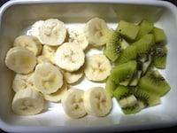 バナナとキウイを冷凍する