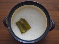 お米を洗う