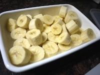 バナナを凍らせる