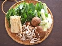 野菜と肉の準備
