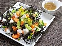 煎り酒ドレッシングのサラダ