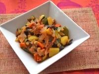 生トマト味噌で炒め物 : ラタトゥイユ風できあがり