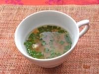 【アレンジ4】生トマト味噌を汁物に : 即席スープ